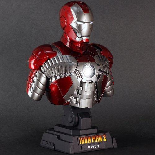 Hot Juguetes Busto Escala 1 4 Colección Iron Man 2 Mark 5
