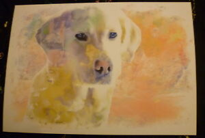 Labrador-Dog-Art-Print-A4-Matte-Dog-Art-Bargain-Price-Surplus-Stock