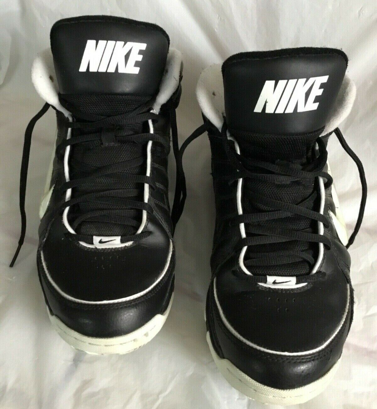 Nike Men's Size 11 Flex Air Black and White High Tops Pre-owned shoes