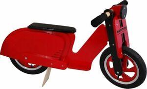Kiddimoto-Scooter-Red-Wooden-balance-bike-bicycle-trainer-vespa-lambretta