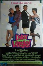 1991 Livin' Large Original Movie Poster Double Sided Rolled Terrence Carson