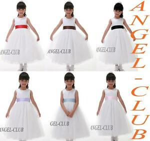 W6078-NEW-COLORS-SASH-FLOWER-GIRL-DRESS-IN-WHITE-Sz-2-12
