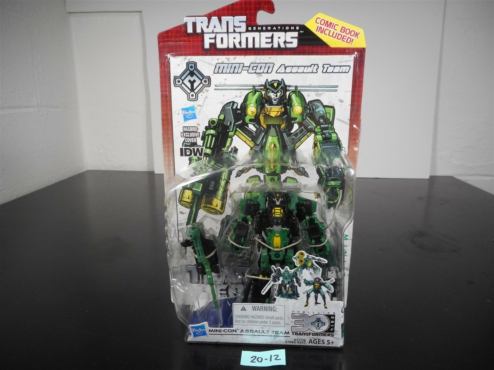 NEW SEALED  TRANSFORMERS GENERATIONS IDW MINI-CON ASSAULT TEAM DELUXE 30TH 20-12