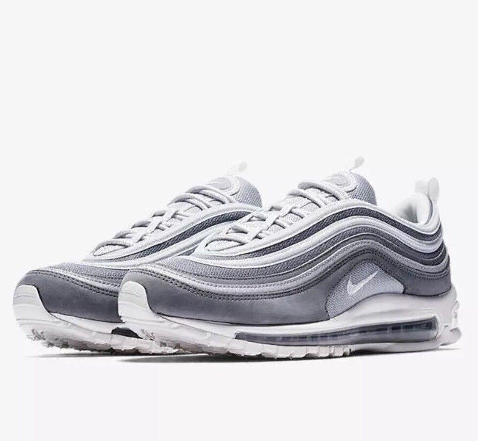 Nike air max 97 premio lupo grigio bianco che taglia 10 stile 312834 005