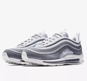Details about Nike Air Max 97 Premium Wolf Grey White Running Shoe Size 9.5 Style 312834 005