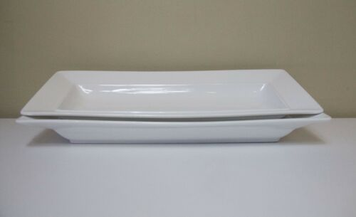 """S&P"" 2 x White Rectangular Platters Great Condition. North Ryde Pickup"