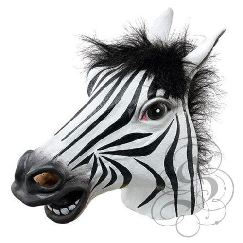 Latex Full Head Safari Animal Zebra High Quality Fancy Dress Up Carnival Mask