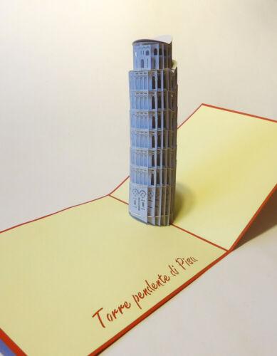 POP UP 3D Klappkarte *Schiefe Turm von Pisa* Italien Urlaub Reise Grußkarte Turm