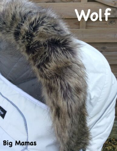 Xplory Trailz Scoot Compatible LUXURY FAUX FUR Hood Trim Fits Stokke /& Mima Xari