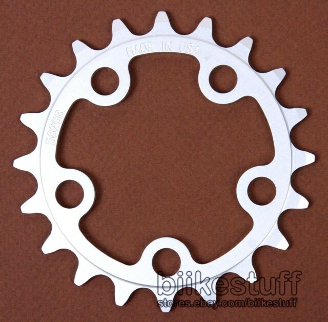 Vuelta 20T 58 BCD Chainring 5820B Silver Made USA Aluminum MTB 8 Speed 20 Tooth