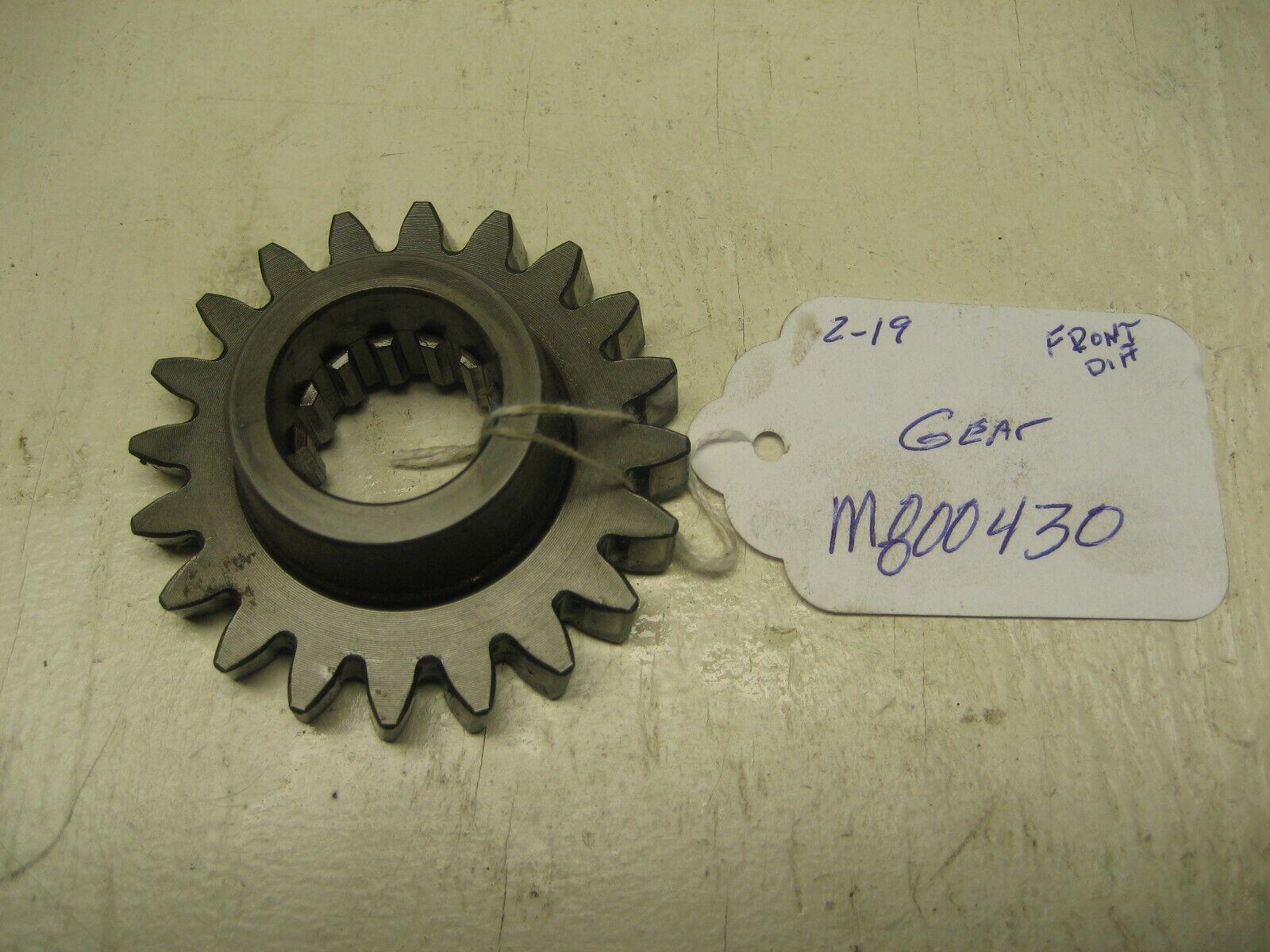 JOHN DEERE 855 FRONT DIFFERENTIAL GEAR M800430