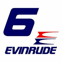 1 Sticker Puissance Evinrude 6 Cv Série 5 Hors Bord Bateau Barque Pêche Decals