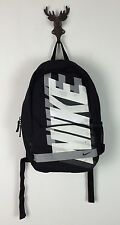 VINTAGE RETRO 90s NIKE BLACK GREY WHITE BACKPACK BAG RUCKSACK TRAVEL COLLEGE GYM