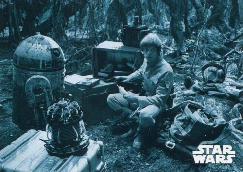 Star Wars ESB Black /& White Blue Base Card #45 Setting up Camp