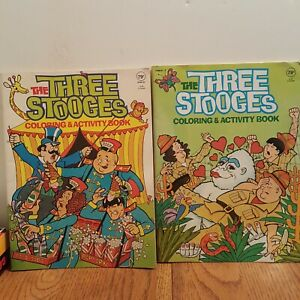 The-Three-Stooges-Coloring-and-Activity-Books-1983-Vintage-lot