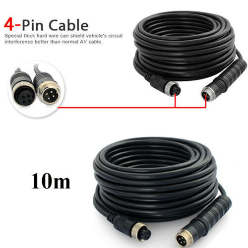 10m//15m//20m 4-Pin Cable Wiring Harness Kit For Truck Car Rear View Camera System