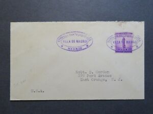US-1941-Paquebot-Cover-034-Villa-Be-Madrid-034-Cancel-Z7931