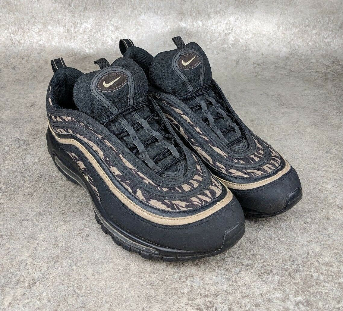 Nike Air Max 97 AOP Tiger Black Camo (AQ4132-001) Athletic shoes Men's 11 EUC
