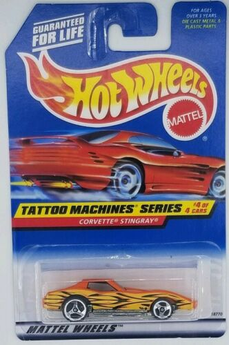 1997 Hot Wheels Corvette Stingray Tattoo Vintage Diecast Toy Car Collectible 90s