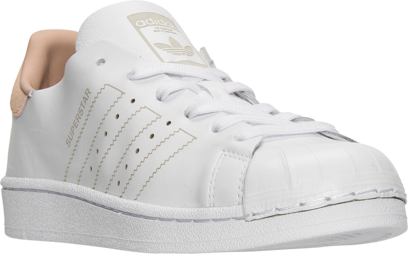 ADIDAS SUPERSTAR DECON LEATHER LOW SNEAKER WOMEN SHOES WHITE BY8703 SIZE 8.5 NEW