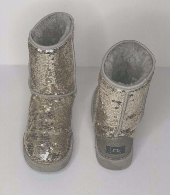 Classic Short Sparkles Sequin Boot