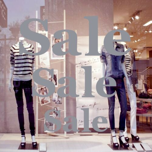 3 Large SALE shop window glass sign vinyl sticker retail store display decal L70