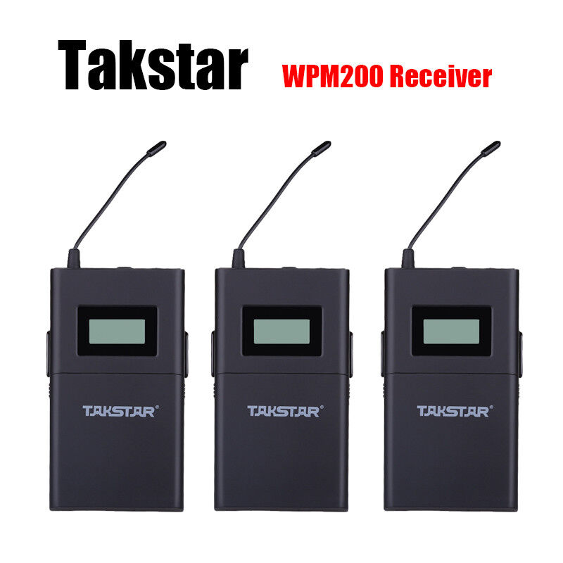 3x Receiver For TAKSTAR WPM-200 Wireless Monitor System UHF Frequency 780-789MHz