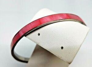 Pink-Dyed-Mother-of-Pearl-MOP-Vintage-Bangle-Bracelet
