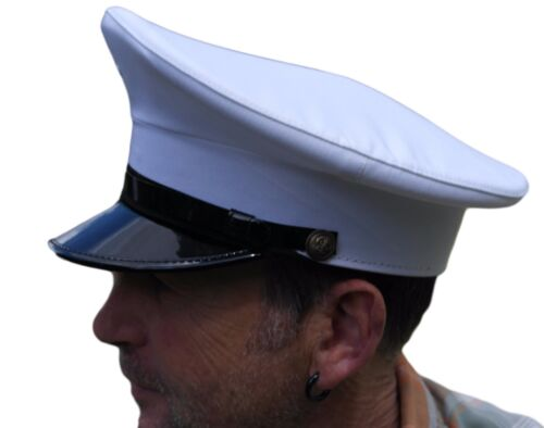 Officer and a gentleman White chauffeur style hat Size 58cm