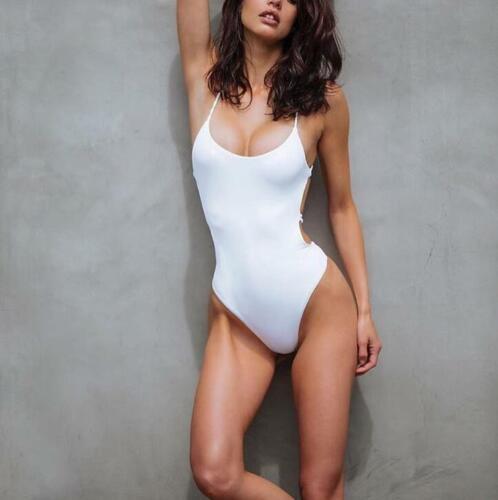 Women Bikini  One Piece Swimwear Swimsuit Bra Padded Halter Bandage Bathing Suit