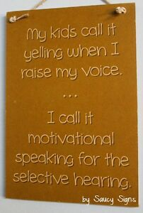 Kids-Yelling-Motivational-Speaking-Sign-Shabby-Rustic-Chic-Wooden-Country