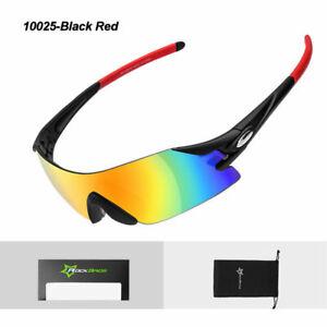 ROCKBROS-Cycling-Sunglasses-Bike-Bicycle-Sports-Glasses-Goggles-Black-Red