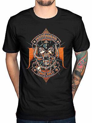 Official Motorhead Orange Ace T-Shirt Bomber Ace of Spades Punk WarPig Bad Magic