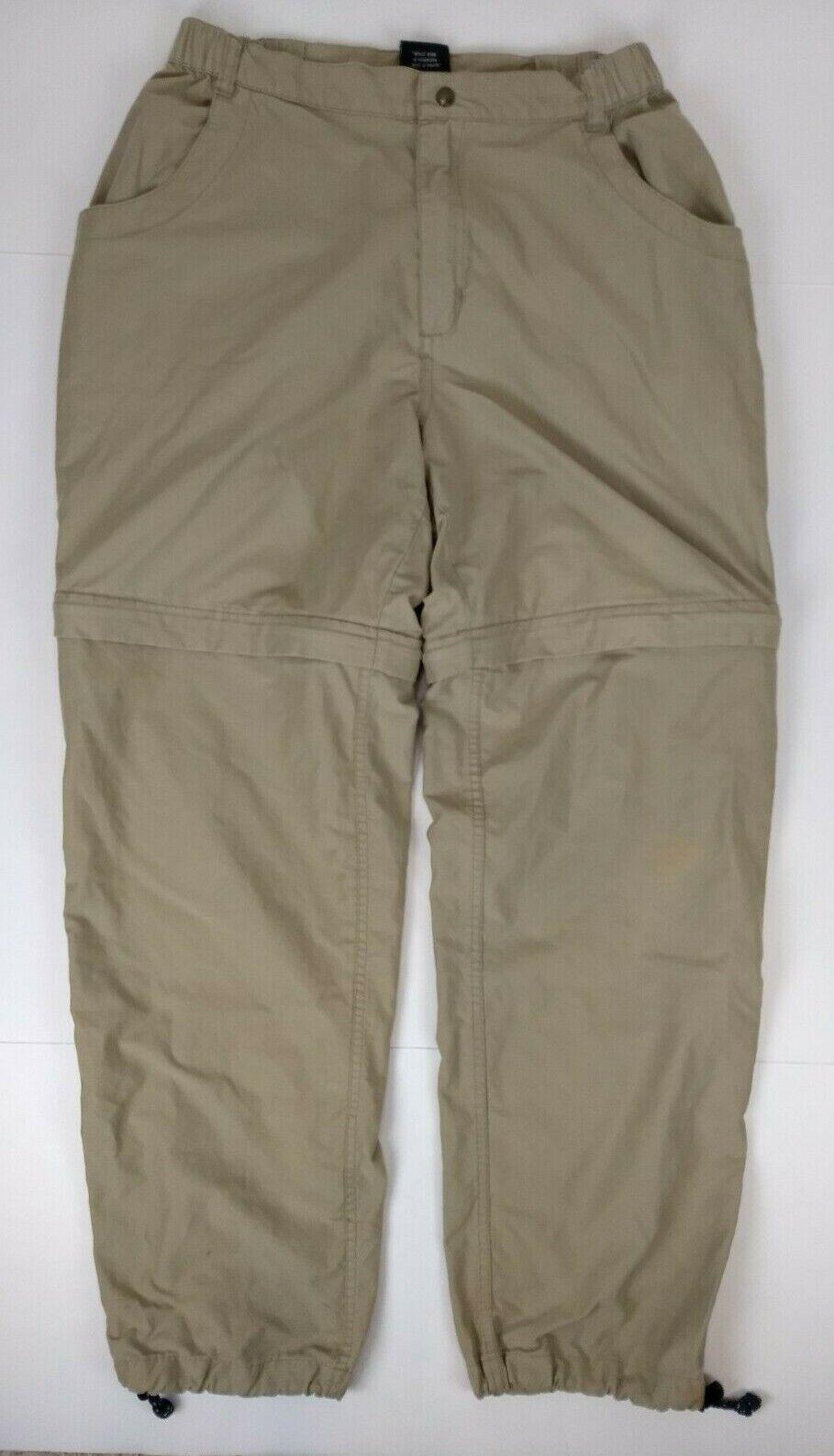 Vintage Kuhl Alf Kuhldry Congreenible Cargo Pants Shorts Mens Size L Khaki Hiking