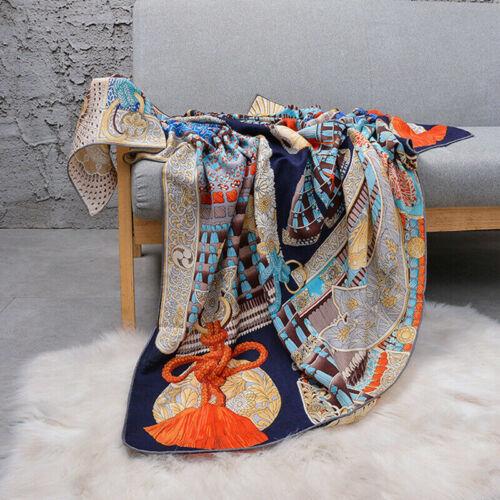 "Women Fashion Print Cashmere/&Silk Scarf Hand Rolled Large Blanket Shawl 54/""*54/"""