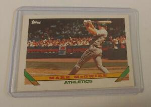 1993 Topps Baseball Card #100 Mark McGwire Pre Production Sample Near Mint