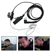 1pc 2 Pin Headset Mic Covert Acoustic Tube Earpiece For Motorola Radio Security