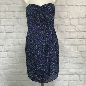 I-heart-Ronson-Size-2-Strapless-Dress-Purple-Blue