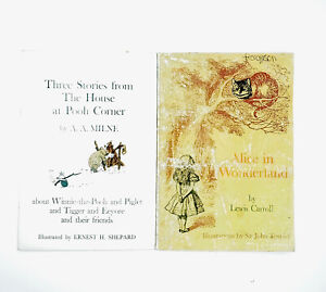 House At Pooh Corner Alice In Wonderland 2 Vintage Scholastic PB