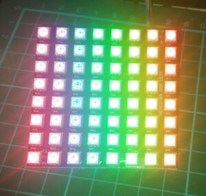 Adafruit NeoPixel Neo Matrix clone 64 8x8 addressable WS2812 5050 RGB LED square