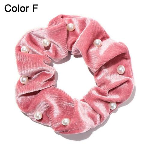 für Frauen Elastische Haarbänder Velvet Pearls Scrunchie Krawatte für Haare