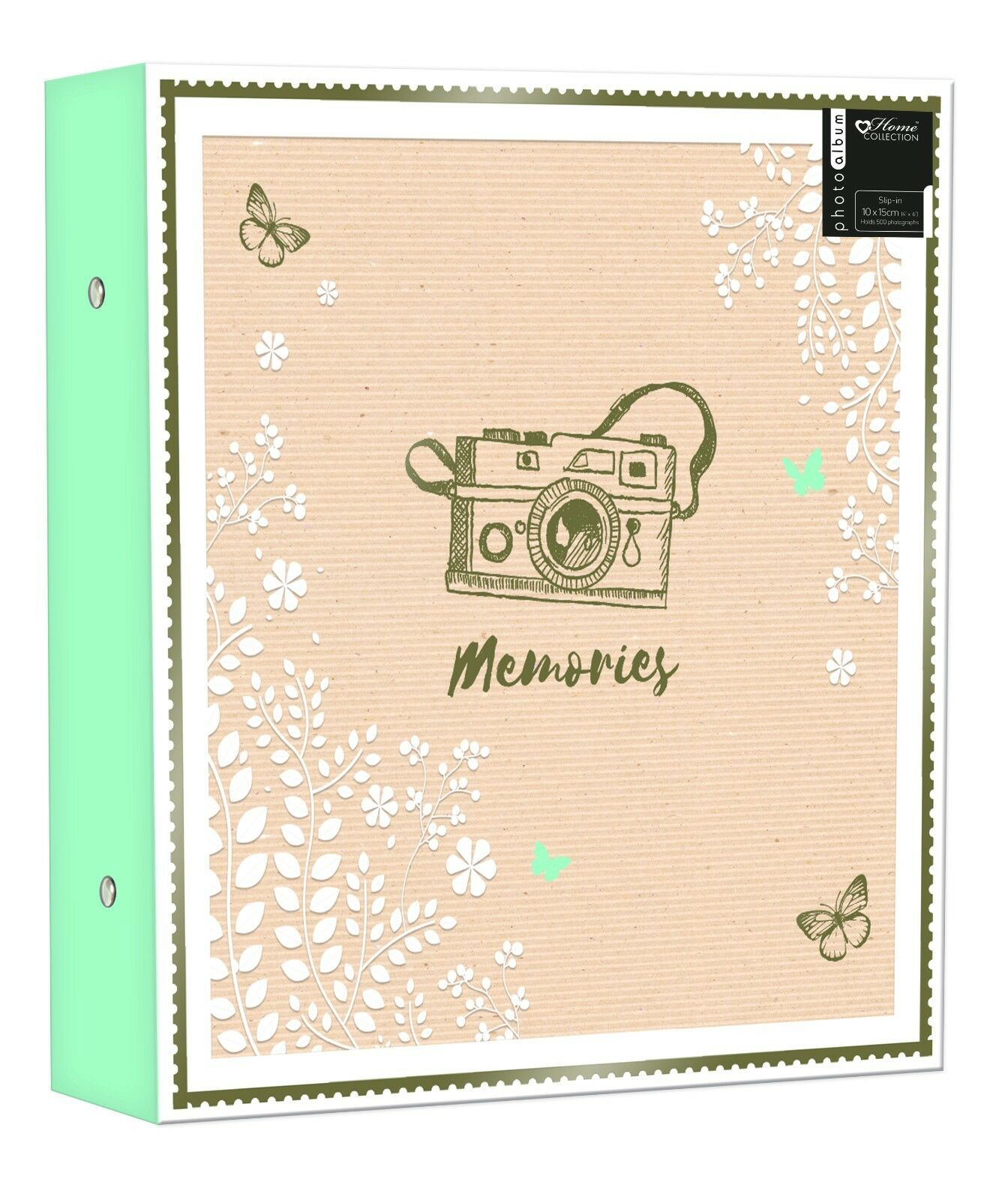 Large Ringbinder Photo Album 500 Photos Memories Design Holds 500 6x4