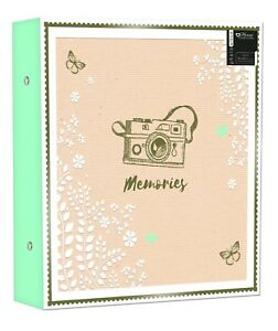 "Large Ringbinder Photo Album 500 Photos Memories Design Holds 500 6x4"" Photos 5012128524936"