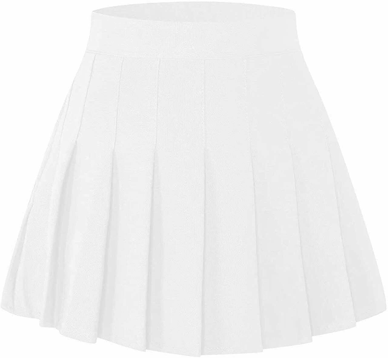 2 Years Adult XL SANGTREE Girls /& Womens Pleated Skirt with Comfy Stretchy Band