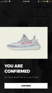 Yeezy Boost 350 v2 Blue Tint MENS size