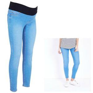 Maternity-New-Look-in-contrasto-blu-Jeggings-Jeans-Taglie-8-18