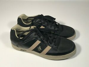 "penguin ""jingle"" black casual athletic shoes men size 115"