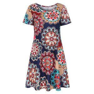 Party-casual-top-boho-t-shirt-dress-maxi-dress-evening-summer-sundress-short