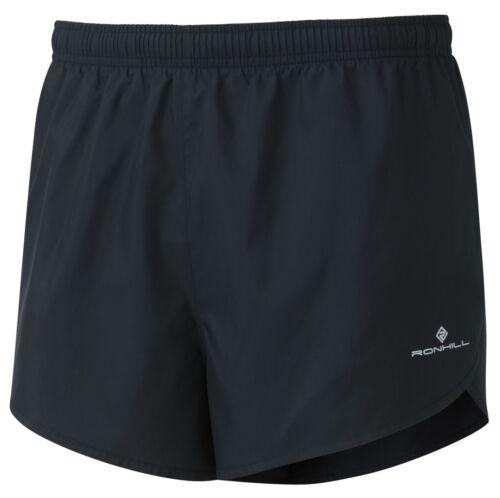 Ronhill Men/'s Everyday Split Short All Black Size M