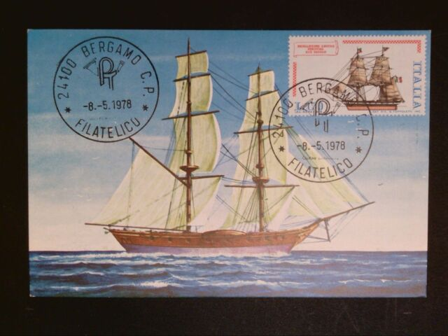 ITALIA MK 1978 SEGELSCHIFF SAILING SHIP MAXIMUMKARTE CARTE MAXIMUM CARD MC c8540